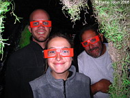 Jamie Brisbin, Eline Feenstra, and Jeff Bozanic at the Two Harbors Haunted House, Photo by Elaine Jobin
